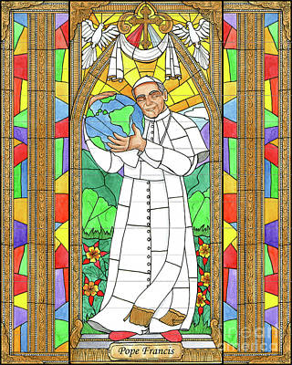 Painting - Pope Francis by Brenda Nippert