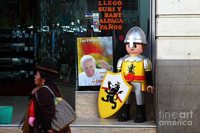 Pope Francis Visits Bolivia Print by James Brunker