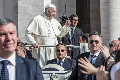 Photograph - Pope Francis With Security  by John McGraw