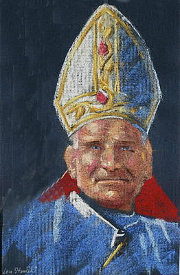 Painting - Pope John Paul 11 by Len Stomski