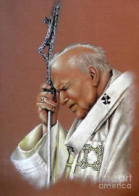 Pope John Paul. 2nd. Art Print