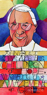 Painting - Pope John Paul I - Mmjpo by Br Mickey McGrath OSFS