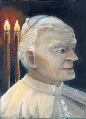 Painting - Pope John Paul II by Bernadette Krupa