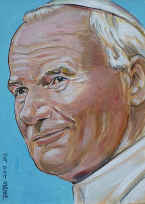 Painting - Pope John Paul II by Bryan Bustard