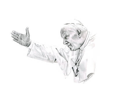 Pope John Paul II Original by Linda Bissett