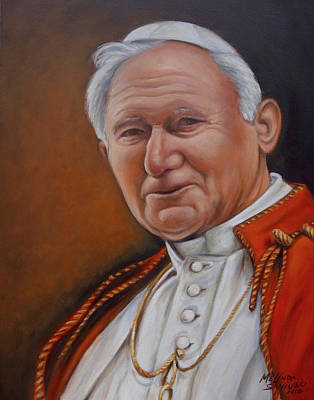 Painting - Pope John Paul by Melinda Saminski