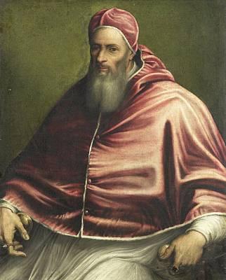 Caucasian Painting - Pope Julius IIi Formerly Entitled Pope Paul IIi, Girolamo Sicciolante, 1550 - 1600 by Artistic Rifki