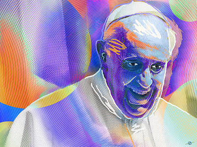Painting - Pope Pop 2 by Tony Rubino