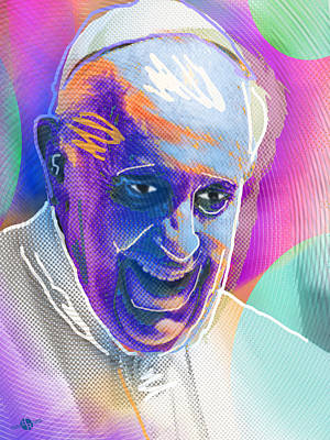 Painting - Pope Pop 3 by Tony Rubino