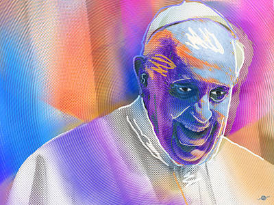 Painting - Pope Pop 4 by Tony Rubino