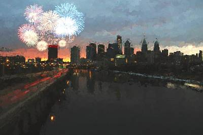 Photograph - Pope's Philly Fireworks by Alice Gipson