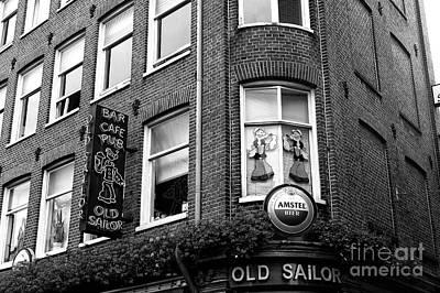 Bier Photograph - Popeye The Old Sailor Mono by John Rizzuto
