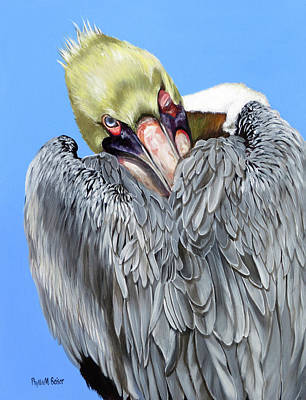 Popeye The Pelican Art Print