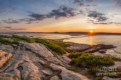 Popham Beach From Fox Island Art Print