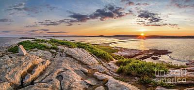Midcoast Photograph - Popham Beach Panorama by Benjamin Williamson