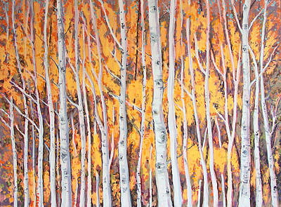 Painting - Poplar Forest by Lynne Haines