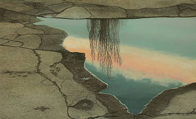 Poplar Puddle Art Print by Laurie Stewart