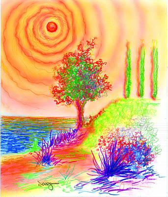 Poplars Original by William Vanya