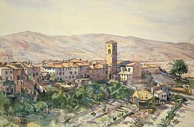Painting - Poppi In The Casentino, Tuscany by Edward Darley Boit