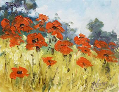 Meadow Painting - Poppies 3 by Irek Szelag