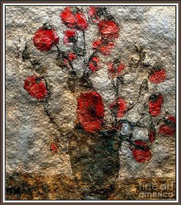 Flower Still Life Mixed Media - Poppies 1 by Pemaro