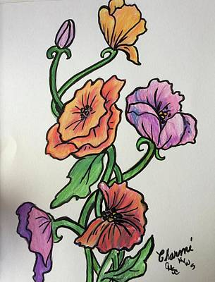 Mixed Media - Poppies 2 by Charme Curtin