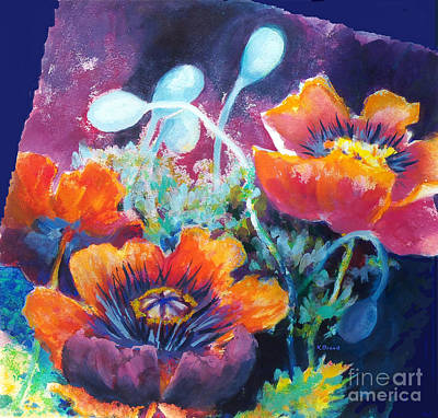 Painting - Poppies 2.2 by Kathy Braud