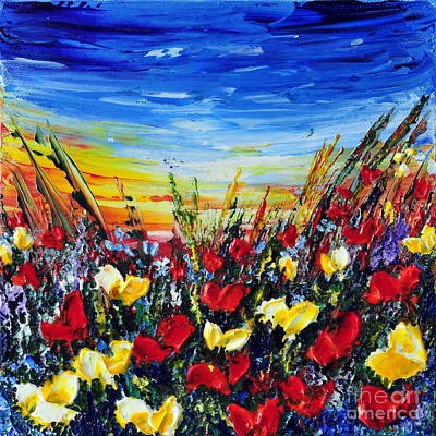 Painting - Poppies 4 by Teresa Wegrzyn
