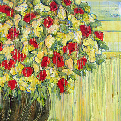 Painting - Poppies And Azaleas by Diane Dean