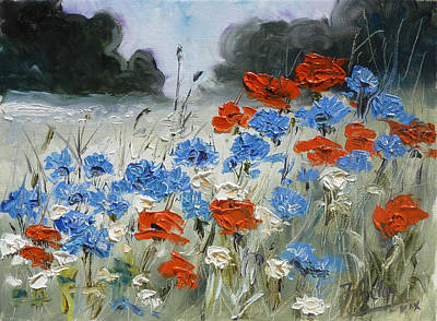 Meadow Painting - Poppies And Cornflowers by Irek Szelag