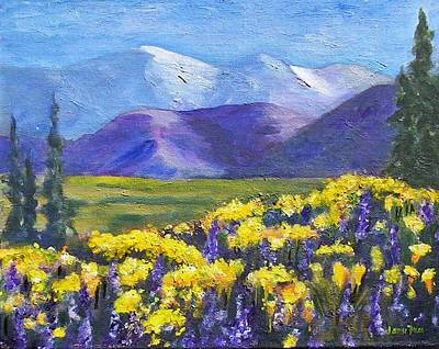 Painting - Poppies And Lupines by Jamie Frier