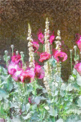 Poppies And Verbascum 2 Art Print by Shirley Stalter