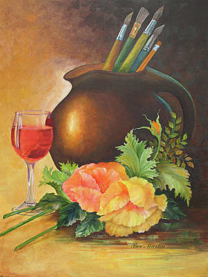 Painting - Poppies And Wine by Beverly Martin