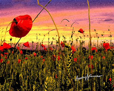Poppies Print by Anthony Caruso