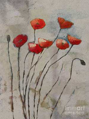 Poppies Art Painting - Poppies Art by Lutz Baar