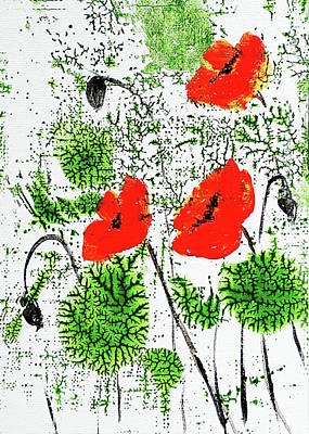 Painting - Poppies by Asha Sudhaker Shenoy