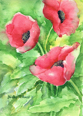 Painting - Poppies by Barbel Amos
