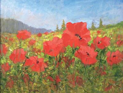 Painting - Poppies by Bart DeCeglie