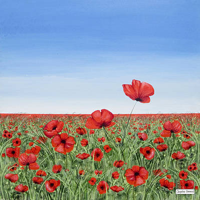 Painting - Poppies - Breakthrough by Jacqueline Hammond