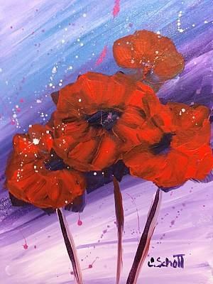 Painting - Poppies by Christina Schott