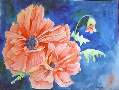 Poppies Art Print by Christine Lathrop