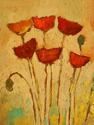 Poppies Art Painting - Poppies Decor by Lutz Baar