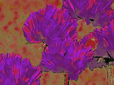 Animal Paintings David Stribbling Royalty Free Images - Poppies Defining Space 20 Royalty-Free Image by Lynda Lehmann