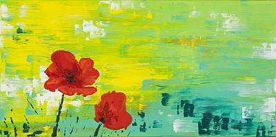 Wall Art - Painting - Poppies by Deyanna Lambert