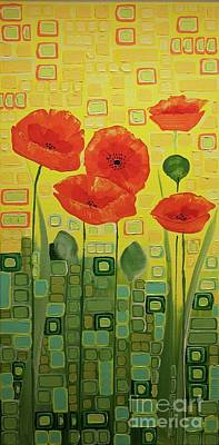 Painting - Poppies by Donna Howard