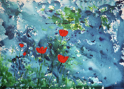 Painting - Poppies by Erik Tanghe