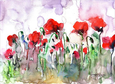 Art Print featuring the painting Poppies by Faruk Koksal