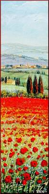 Het Painting - Poppies Field by Antonio Berti