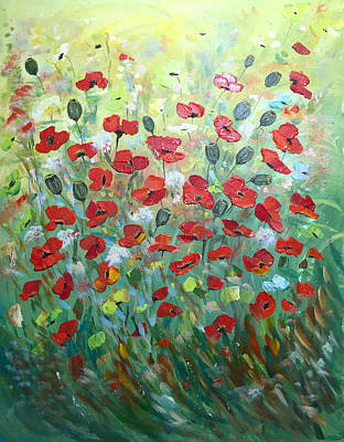 Painting - Poppies For Friends by Dorothy Maier