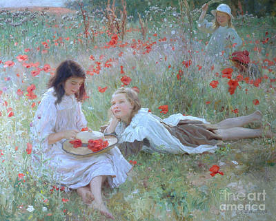 Poppies Art Print by Frederick Stead